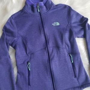 The North Face Fleece Puple Jacket Size M
